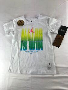 Nike Jordan Limited Edition Boys T-Shirt Asahd Khaled white size 6, 7