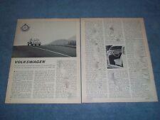 1963 VW 1200 Bug Vintage Road Test Info Article Volkswagen