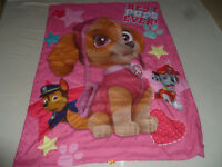 PAW PATROL BEST PUPS EVER BLANKET COMFORTER GIRL KIDS SKYE MARSHALL CHASE PINK >
