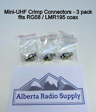 Mini UHF Crimp Connector - RG58 / LMR195 3 Pack  *** Ships from CANADA ***