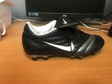 Nike Tiempo Black White Football Soccer Boots Cleats Brand New UK SIZE 9