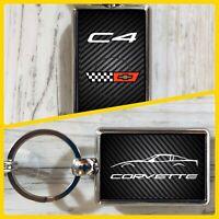Chevy Chevrolet Corvette C4 Stingray Double Sided Keychain GM General Motors