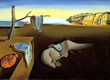 "Salvador Dali ""The Persistence of Memory"" art reproduction 8.3X11.7 canvas print"
