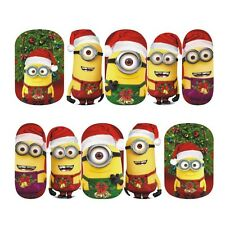 UK Nail Art Sticker Transfer Stickers Xmas Christmas Minions (DS407)