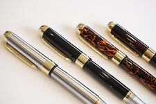 4x Jinhao X250 Fountain Pens Set Gold Trim Tiger Orange Black Steel Lava Red UK