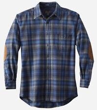 Pendleton Elbow Patch Trail Shirt Umatilla Blue/gray Check XL