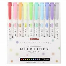 Zebra Mildliner 10 color / Double-Sided Highlighter Marker / WKT7-10C