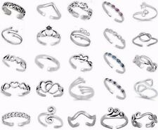 Adjustable Size Toe Ring Solid Sterling Silver 925 Various Designs Ship from USA
