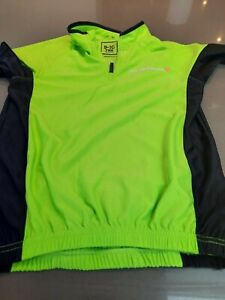 MUDDYFOX Neon Green Cycling Zip Short Sleeved Top Age 9-10 Excellent Condition