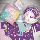 Licorne Anniversaire Fête Célébration Vaisselle, Décoration & Ballons