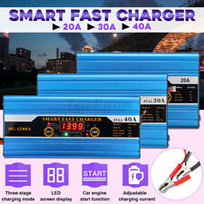 30A 12V Battery Charger Smart Auto LCD for Car Motorcycle Caravan Bike Boat