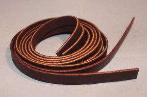 "Lace Leather Saddle Strings - 1/2"" x 72"" - Burgundy Latigo - 1 Pair (F91)"