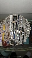 LOT OF 20 WATCHES FOR PARTS OR REPAIR, SEIKO MICKEY,  BOEING, JIALILEI, RELIC+++