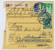 Bizone/Bauten, 97IIeg MiF 128, Paketkarte Sterbfritz, 4.2.52