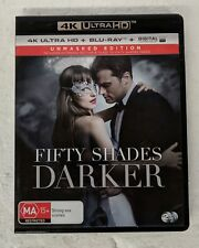 FIFTY SHADES DARKER 4K ULTRA HD + BLU-RAY oz seller Jamie Dornan UHD HDR DVD