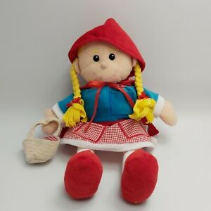 LITTLE RED RIDING HOOD Hand Puppet Toy by Fiesta Plush Childrens Teddy Toy