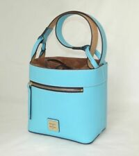 DOONEY & BOURKE leather/suede drawstring bucket bag Light Blue NWT