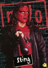 Sting, 1998 Topps Wcw / Nwo Wrestling Sticker / Karte #S4. Gratis Ww S/H