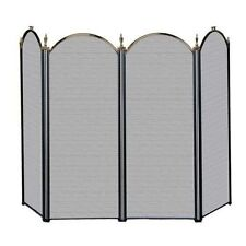 Uniflame 4 FOLD ANTIQUE BRASS/BLACK SCREEN (S-5118) S41010AK Fireplace Screens