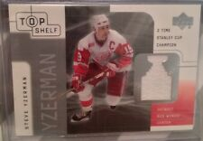 2001 Steve Yzerman, Upper Deck Top Shelf, Game Used Jersey.