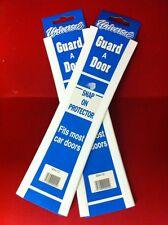4 x CAR DOOR EDGE GUARD PROTECTOR  WHITE  2 PACK  4 FT TOTAL LENGTH