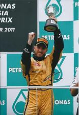 NICK HEIDFELD Signed Podium Autograph LOTUS F1 12x8 Photo AFTAL COA In Person