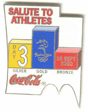 2000 SYDNEY OLYMPIC COCA COLA PIN OF THE DAY SILVER PIN SET DAY 3