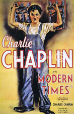 Modern Times Charlie Chaplin Vintage Movie Poster