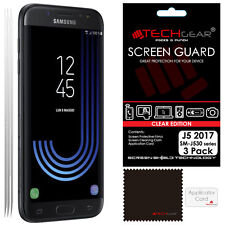 3 Pack TECHGEAR CLEAR Screen Protector Guards For Samsung Galaxy J5 2017 SM-J530