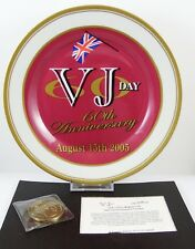 Oxford Collectables WWII VJ Day Plate & Commemorative Medallion Set