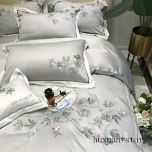 Flower Bedding Set Full Queen King Vintage Double Sheet Pillow Case Duvet Cover