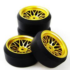 4Pcs Set RC Drift Tire Wheel Rims Fit HSP HPI Racing 1:10 On-Road Car BBG+PP0370
