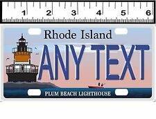 CUSTOM PERSONALIZED ALUMINUM BICYCLE STATE LICENSE PLATE-RHODE ISLAND LIGHTHOUSE