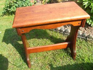 Antique Victorian mahogany organ stool