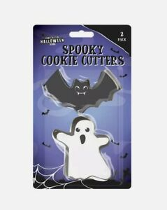 Halloween Spooky Cookie Cutter 2 PACK Bat & Ghost Party Cake Baking Tools