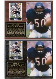 Mike Singletary #50 Chicago Bears Linebacker Hall of Fame Card Plaque Monsters