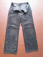 Pantalon marron Benetton à côtes Taille 40