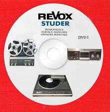New listing Revox & Studer Audio Repair Service owner manuals dvd 1 of 2 in pdf format