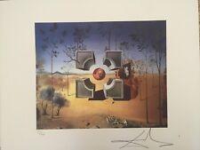 Salvador Dali Litografia 50 x 65 Bfk Rives Timbro a secco Firmata a Matita D2067