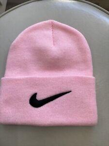 Vintage 90s pink nike Beanie Winter Sock Hat