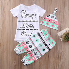 12-18M Toddler Baby Girl Outfits Romper Tops Pants Legging Hat Clothes 3PCS USA