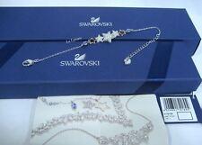 Swarovski Duo Star Bracelet Adjustable Clear/Blue Authentic MIB 5179189