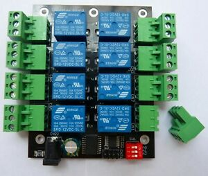 8-channel I2C IIC 24V relay board for Raspberry Pi and Arduino UK