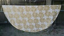 "Gold Cream Damask Poinsettia Christmas Oval 66""X62"" Tablecloth Free Shipping"