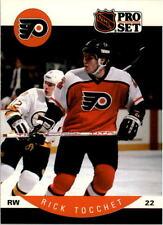1990-91 PRO SET HOCKEY RICK TOCCHET CARD #225 PHILADELPHIA FLYERS NMT/MT-MINT
