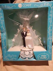 Vtg 1980s NOS Coast Novelty MFG Co Bride & Groom Wedding Cake Topper Sealed Box