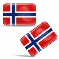 Autocollant 3D Drapeau Norvège Résine Norvègien National Norway Flag Sticker F48
