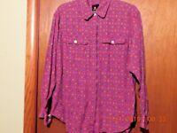 Paisley Blouse Shirt  Liz Sport  Size M