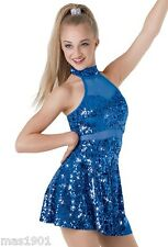 NEW FIGURE ICE SKATING BATON TWIRLING DRESS COSTUME BALLROOM DANCE COMPETITION