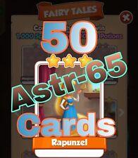 Coin Master :-) 50x Rapunzel Card- Lighting Fast Sending Speed